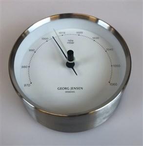 Image of   Barometer 10cm sølv/hvid