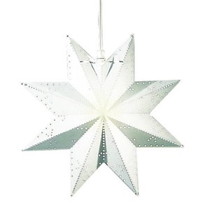 Image of   Classic stjerne hvid 30cm 3,5M ledn. E14