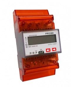 Image of   EL-måler 3F PRO380 LCD 400V/100A 4M MID M-BUS
