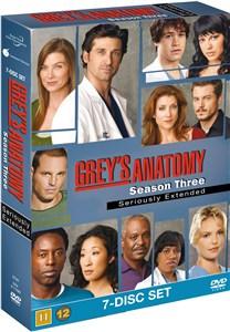 Greys Anatomy/Greys Hvide Verden - saeson 3 - DVD