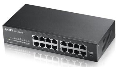 Image of   GS1100-16 Ikke administreret Gigabit Ethernet (10/100/1000) Sort