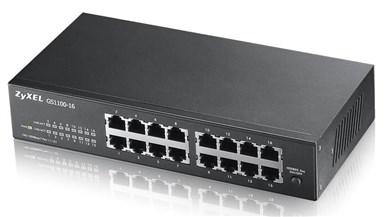 Image of   GS1100-16 Unmanaged Gigabit Ethernet (10/100/1000) Black