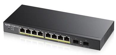 Image of   GS1900-10HP Managed L2 Gigabit Ethernet (10/100/1000) Black 1U Power over Ethernet (PoE)