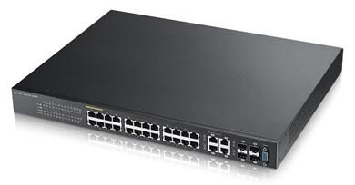 Image of   GS2210-24 Managed L2 Fast Ethernet (10/100) Black Power over Ethernet (PoE)