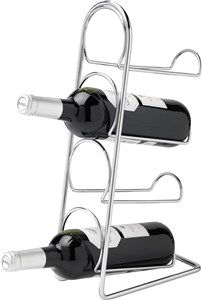 Image of   Pisa Wine Rack 4 flasker - krom