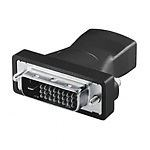 Logilink HDMI to DVI Adapter HDMI 19-pin female DVI-D (24+1) male Sort