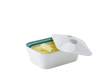 Image of   Leona butter hvid/aqua haze - hvid udv.