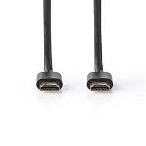 Nedis High Speed ??HDMI ™ kabel med Ethernet | HDMI™ Stik | HDMI™ Stik | 1080p@60Hz | 10.2 Gbps | 1.00 m | Runde | PVC | Sort | Mærke
