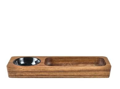 Snacksæt 30x10x3cm Akacie/keramik
