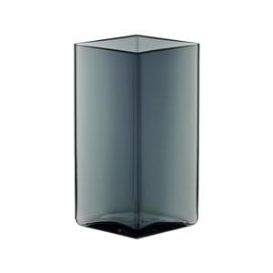 Image of   Ruutu Vase 11,5x18cm Grå