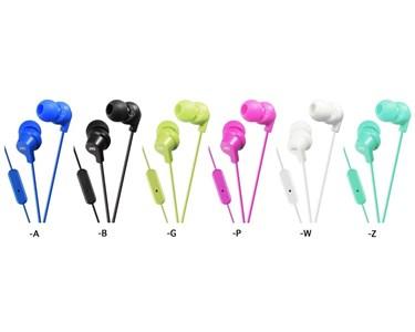 JVC in-ear høretelefoner med fjernbetjening og mikrofon. Grøn