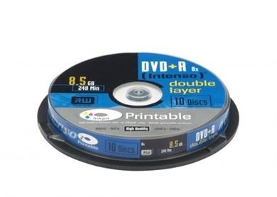Image of   1x10 DVD+R 8.5GB 8x Double Layer printable 8,5 GB 10 stk
