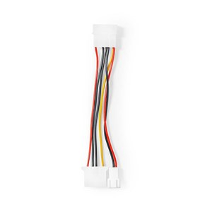 Image of   Internt strømkabel | Molex-hanstik | Molex-hunstik + 3-benet blæserstrøm | 0,15 m | Forskellige