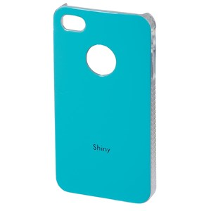 Mobil Cover iPhone 4/4S Shiny Hard Cover Turkis
