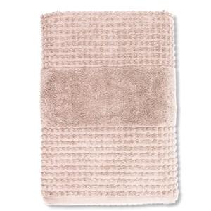 Image of   Check håndklæde. 70 x 140. Nude.