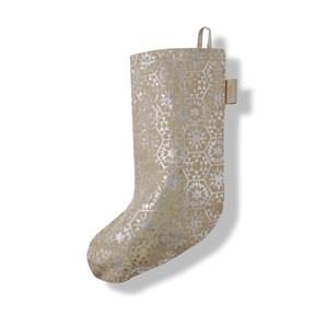 Image of   Christmas julestrømpe. Sølv. H 44 cm.