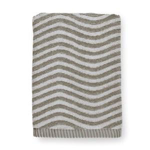 Image of   Ocean håndklæde., 50 x 100. Mørkgrå/lysgrå.
