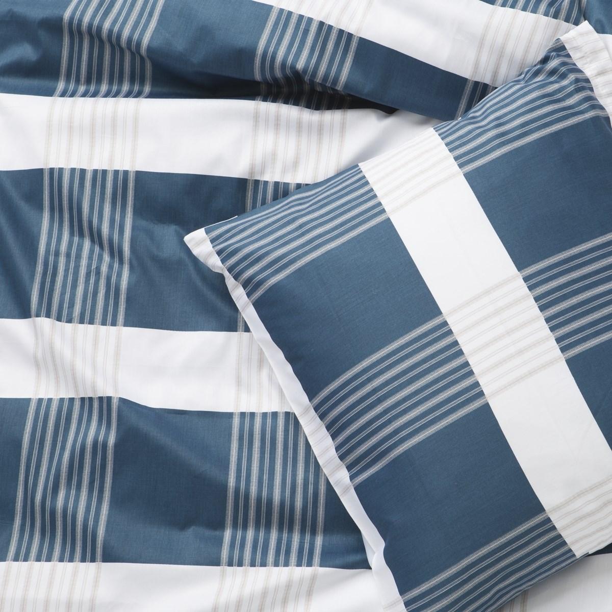 Tidssvarende Road sengetøj. Blå. 140 x 220 cm. Juna sengetøj - Skiftselv.dk EM-53