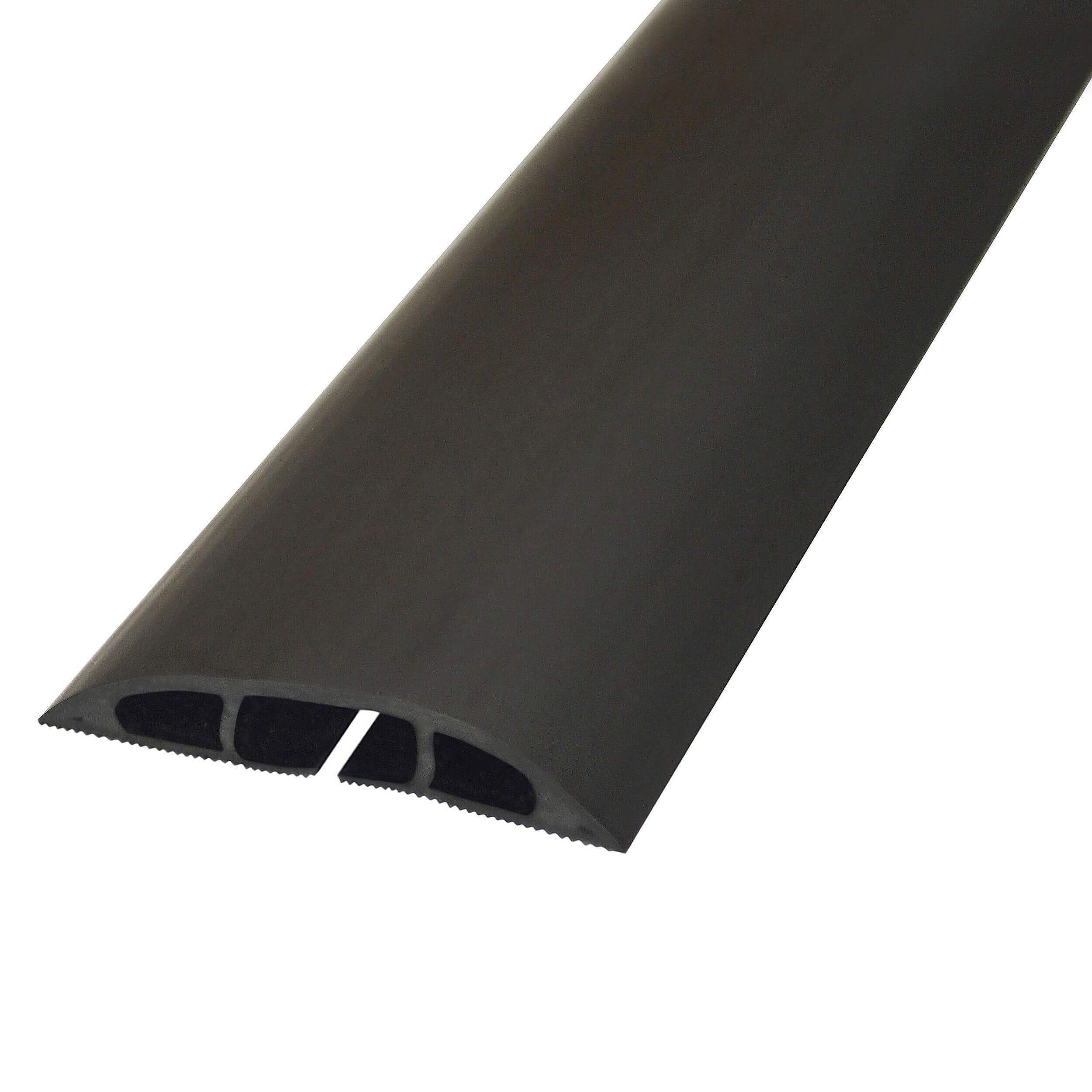 d line kabelkanal gulv pvc 1 8m sort ledninger p re mm. Black Bedroom Furniture Sets. Home Design Ideas