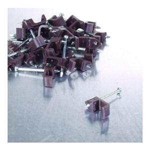 Image of   Kabelklips 3x5mm, brun, 25 stk.