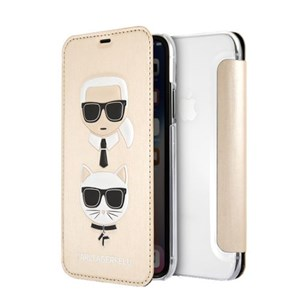 Image of   Karl and Choupette case for iPhone X/XS, flip case, emb