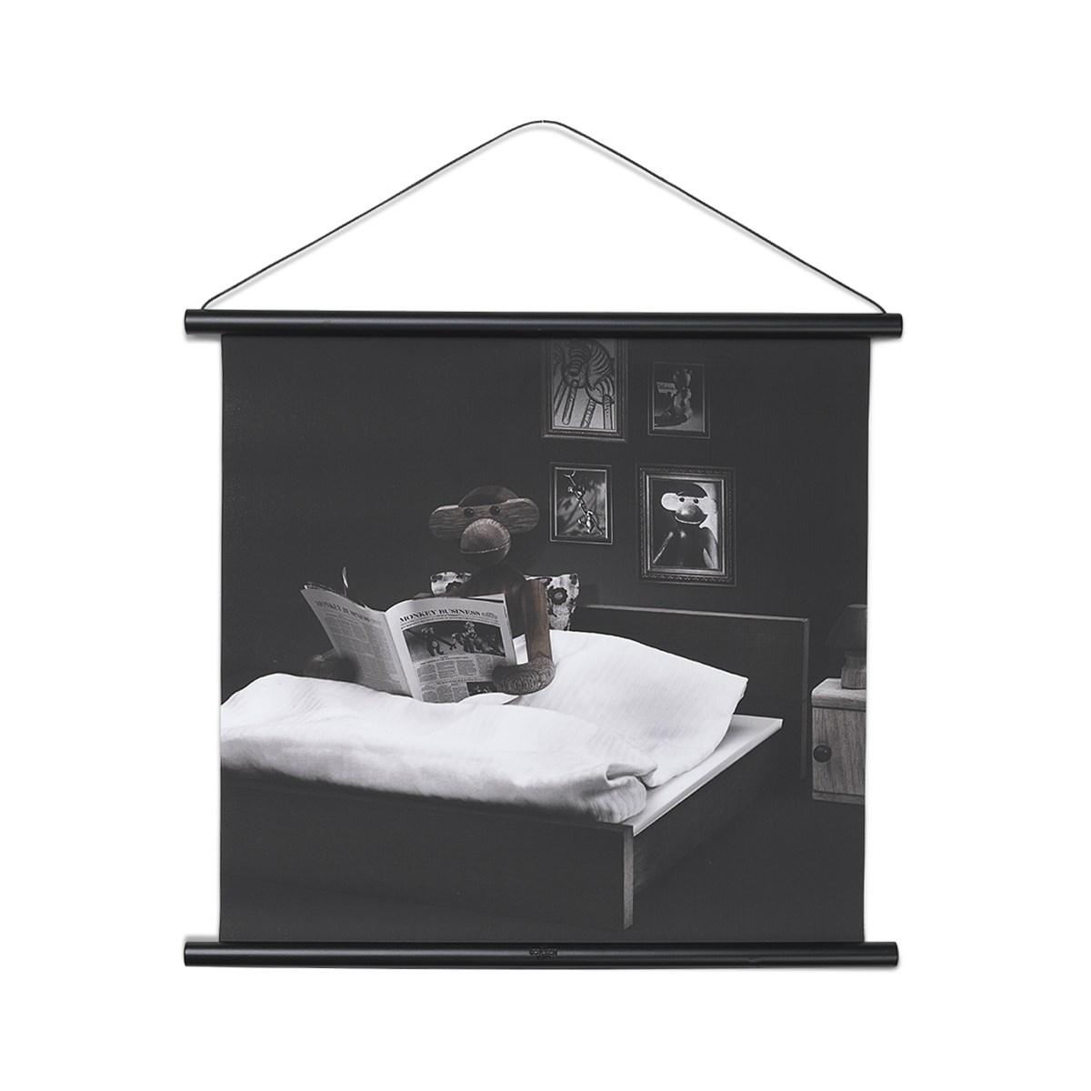 Fantastisk Kay Bojesen Abe foto godnatlæsning 40x40 cm, sort profil Billede BU62