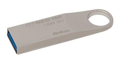 DataTraveler SE9 G2 64GB USB-nøgle USB Type-A 3.2 Gen 1 (3.1 Gen 1) Sølv