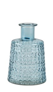 Image of   Vase. Glas. Blå. D 12 cm. H 17,5 cm.