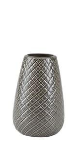 Image of   Vase. Stentøj. Grå. D 9,5 cm. H 14,5 cm. Stk.