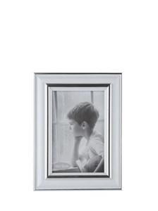 Image of   102419 billedramme Sølv, Hvid Enkelt billedramme