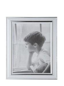 Image of   102421 billedramme Sølv, Hvid Enkelt billedramme