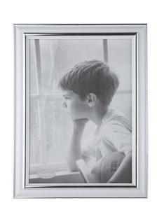 Image of   102422 billedramme Sølv, Hvid Enkelt billedramme