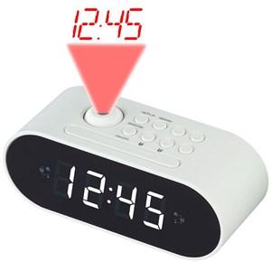 Klockradio med projektion Vit