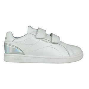 Image of   Kondisko til Børn Reebok Royal Complete Clean Velcro Hvid Sølvfarvet 31,5