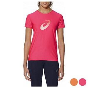 Kortærmet T-shirt til Kvinder Asics GRAPHIC SS TOP Pink S