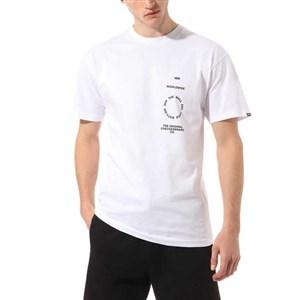 Kortærmet T-shirt til Mænd Vans DISTORTION TYPE Hvid M