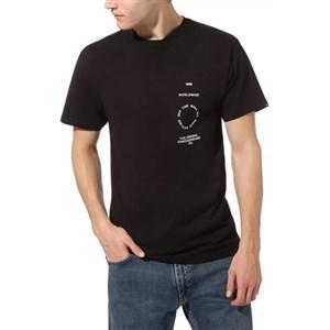 Kortærmet T-shirt til Mænd Vans DISTORTION TYPE Sort XL