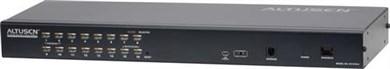 """Image of KVM-switch, 1-16, 19"""" 1U, Ethernetkabel, KVM Over the NET, lok"""