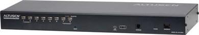 """Image of KVM-switch, 1-8, 19"""" 1U, Ethernetkabel, KVM Over the NET, loka"""