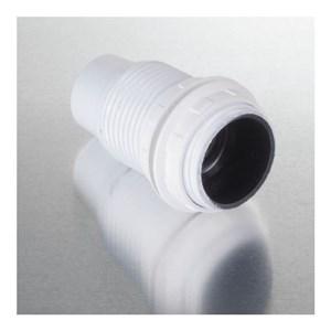 Image of   Lampefatning E14 m/ringe til lampeskærm, hvid