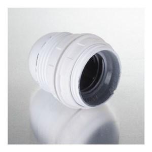 Image of   Lampefatning E27 m/ringe til lampeskærm, hvid