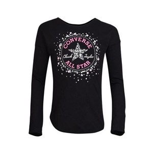Langærmet T-shirt Converse 6847S-023 Sort Fuchsia XL