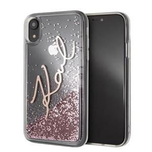 Image of   Liquid Glitter case for iPhone XR, pink glitter, transp