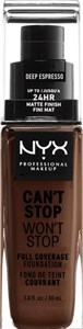Image of   Make-up base NYX Worth The Hype Matte Foundation Deep Espresso