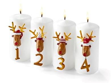Image of   Advent 1-4 Rudolf sæt af 4
