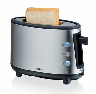 Image of   Upright toaster, 1 slice, ss/black, 550W