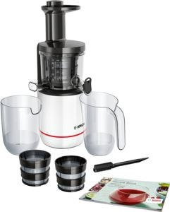 Image of   MESM500W citruspresser og juicemaskine Slow juicer Sort, Hvid 150 W