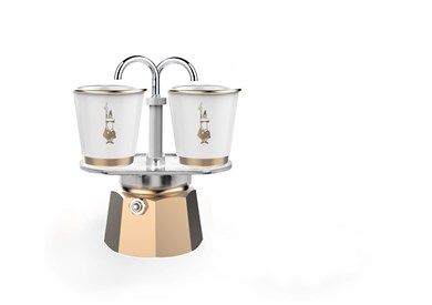 Bialetti - Mini Express Set 2 Cup Included Porcelainscup - Gold (5870BU)