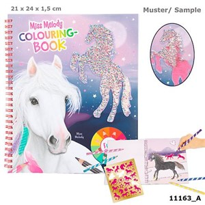 Depesche Miss Melody - Colouring Book w/Sequins (411163)