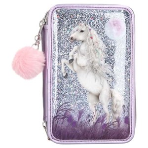 Depesche Miss Melody - Trippel Pencil Case w/Glitter - Purple (0410770)